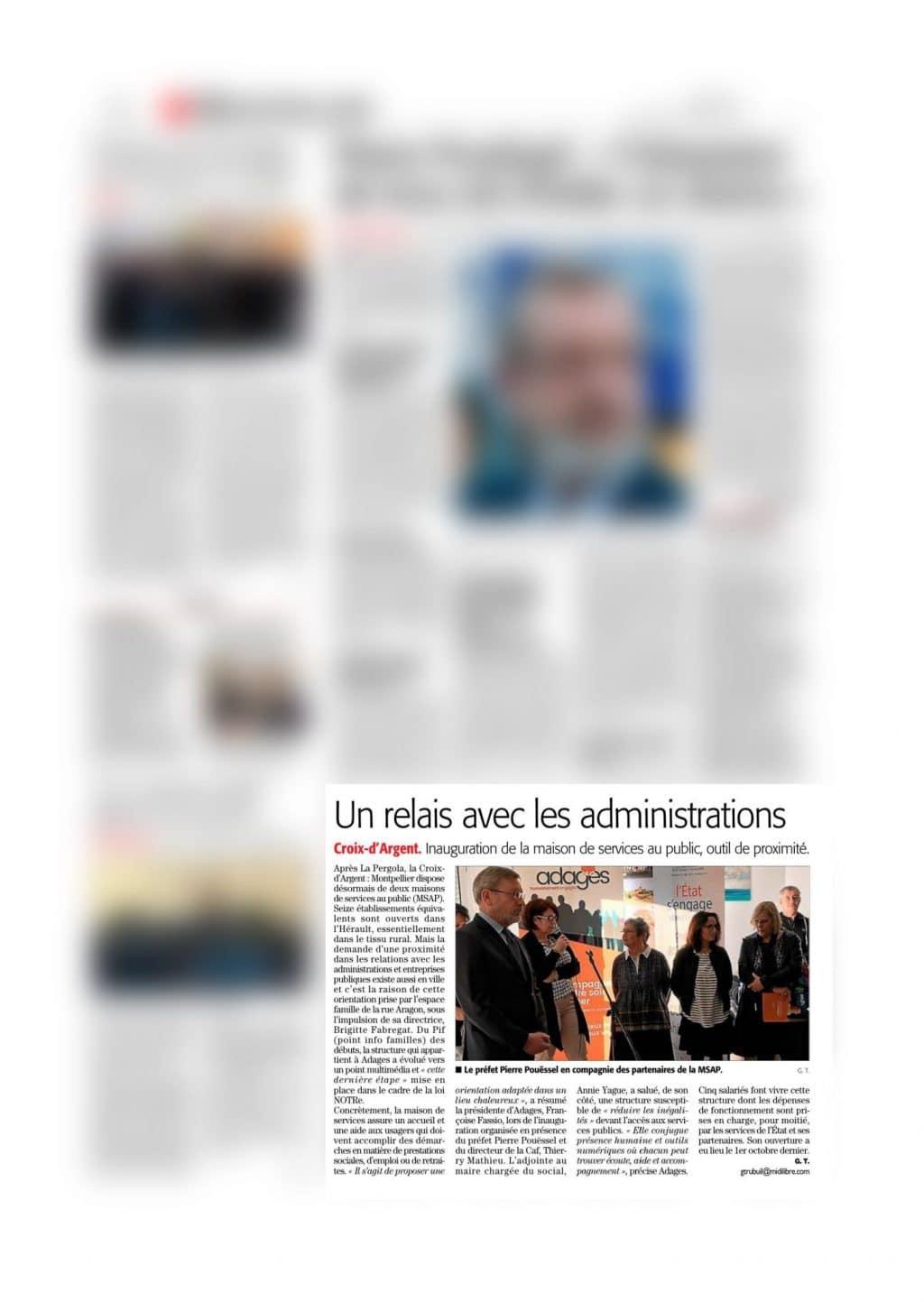 Midi Libre | Un relais avec les administrations 1