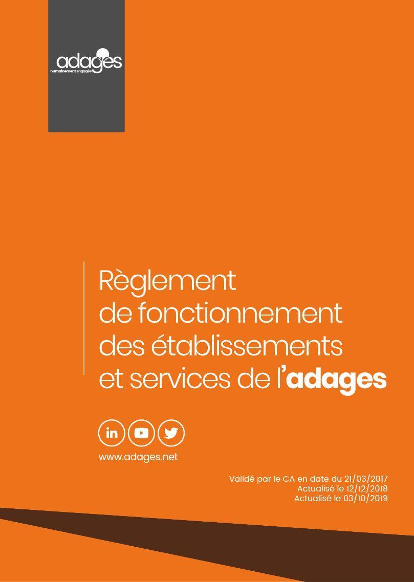 Règlement de fonctionnement des établissements et services de l'Adages
