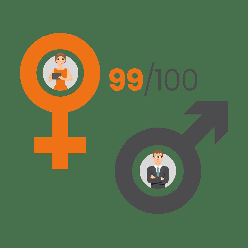 Index Egalité H/F 2020