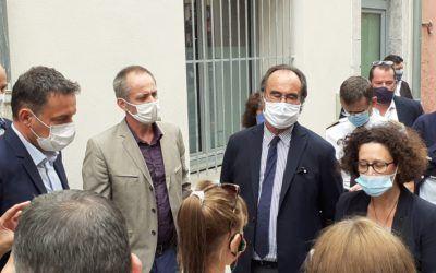 Visite d'Emmanuelle Wargon, Ministre du Logement à Sète. Logements réhabilités par l'Adages5 (1)