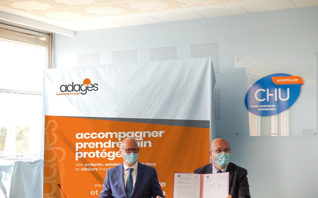 Le CHU de Montpellier et l'Adages signent une convention cadre.5 (9)