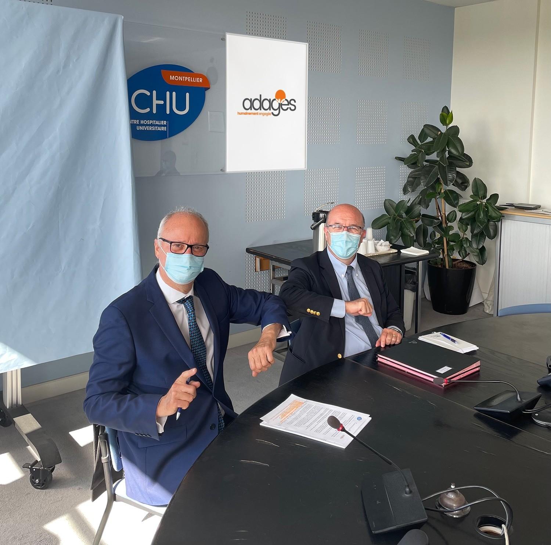 Signature convention ADAGES et CHU de Montpellier